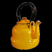 Bright Yellow Enamel Ware Teapot Poland