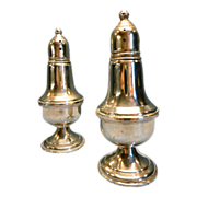 REDUCED Sterling Empire Salt and Pepper Shakers