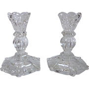 REDUCED Crystal Candlestick Holders (Set of 2)