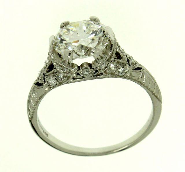 Vintage Tiffany Art Deco Platinum Amp Diamond Engagement