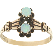 SALE Victorian 10K Yellow Gold Opal Ring