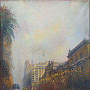 Paris France street view impressionist oil painting