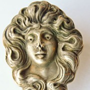 Antique Sterling Silver Top Art Nouveau Brooch/Watch Pin  - Circa 1900