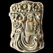 Antique Art Nouveau Silveroin Match Safe - Circa 1900