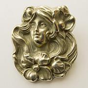 REDUCED Large Brooch - Antique Art Nouveau Circa 1900