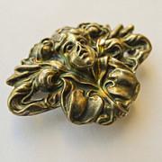 Unger Bros Brooch/Watch Pin  - Antique Sterling Silver Art Nouveau - Circa 1900
