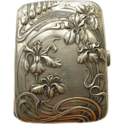 Cigarette/Card Box - Magnificent Antique French Art Nouveau Sterling Silver - Circa 1900