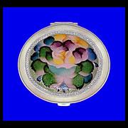 SALE NACON TOKYO Vintage Basse Taille Enamel Flower Compact