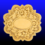 SOLD ANTIQUE Victorian 12K Gold Brooch or Watch Pin - Beautiful Monogrammable Floral Motif