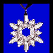 SWAROVSKI BRAND Dazzling Large Crystal Snowflake Pendant Choker Necklace