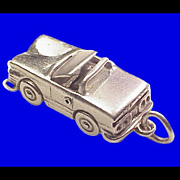 SALE Convertible with Retractable Hard Top Sterling Silver Charm