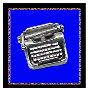 SALE TYPEWRITER Ubercool Sterling Silver 3D Mechanical Charm