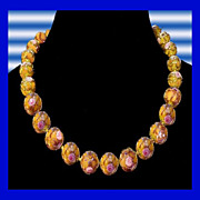 GIO CANALI Italy Exquisite Venetian Handcrafted Art Glass Necklace