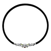 JAN VAN SCHAIK Industrial Modern Sterling Silver and PVC Multi-Stone Tube Choker Necklace