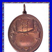 SALE The Lawrenceville School New Jersey Antique 1910 Bronze Medal