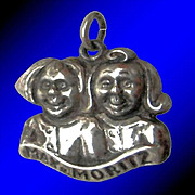 SALE MAX AND MORITZ Rare Vintage European 835 Silver Charm - German Fable Protagonists