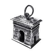SALE ARC DE TRIOMPHE Marvelous 3-D French 800 Silver Charm
