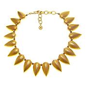 GIVENCHY Vintage Bold Captivating Stylized Leaf Necklace