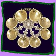 SALE Vintage 830 Silver Fleur De Lys Solje Pin Scandinavian Wedding Jewelry
