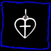 JAMES AVERY Cross in Heart Sterling Silver Charm