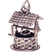 SALE Large Sterling Silver 3D Wishing Well Charm