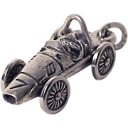 FORMULA ONE RACE CAR Rare 3D Cooper Climax Style Grand Prix Sterling Silver Charm Vintage 1960