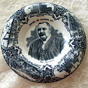 Blue and white Wedgwood Commemorative Plate Stanley Mills