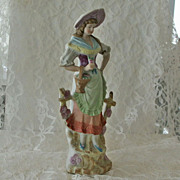 Country Girl Bisque Figurine Japan