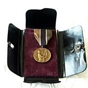 SOLD American Legion School Award Medal in Original Case 1925 - Red Tag Sale Item