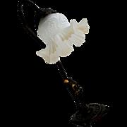 Metal Lamp Art Deco Pierrot Figure
