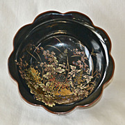 SALE Black Shibata Japan Porcelain Bowl
