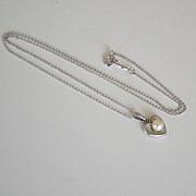 SALE Necklace Marvel Cultured Pearl Sterling Heart