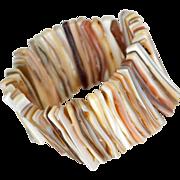 SALE Wide Cuff Bracelet Mother of Pearl Shell