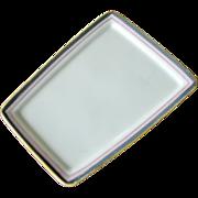 SALE Nippon Dish Tray Hand Painted Unusual Shape Trim