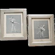 Pair Ballet Prints by Cecil Golding Vintage