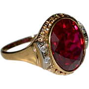 Huge  Ruby 14k Ring