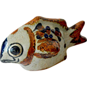 SALE Pottery Fish Figurine Signed