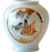 SALE Porcelain Vase Japan Birds