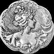 Art Nouveau Pin Brooch