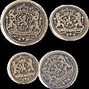 SALE Metal Buttons Je Maintiendrai 24 Assorted Sizes