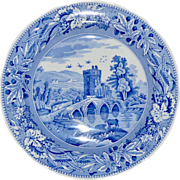 Spode  Lucano Blue Room Collection Pottery Plate