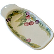 SALE Spoon Rest with Cherries Pfaltzgraff USA
