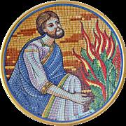 Religious Plate Mosaic Bradford Exchange Moses 1985