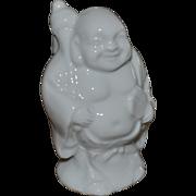 SALE White Porcelain Laughing Buddha or Hotei