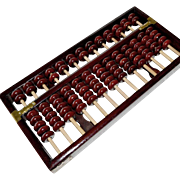 SALE Chinese Abacus Wood and Brass