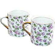 SALE Arnart Royal Chintz Cups Violets Set of Two