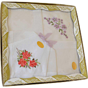 SALE Box of Two Hankies Embroidered Switzerland