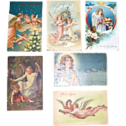 SALE Six Angel Postcards Christmas and Easter