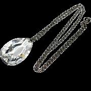 Hefty Crystal Pendant Necklace