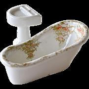 Porcelain Doll Porcelain Bathtub and Sink